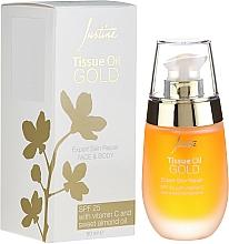 Parfumuri și produse cosmetice Ulei pentru față și corp - Avon Justine Tissue Oil Gold