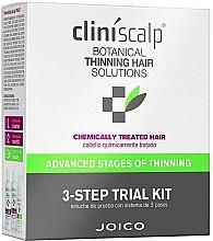 Parfumuri și produse cosmetice Set împotriva cheliei, păr vopsit - Joico Cliniscalp 3-step Trial Kit For Chemically Treated Hair Advanced Stages (shmp/100ml + cond/100ml + treat/50ml)