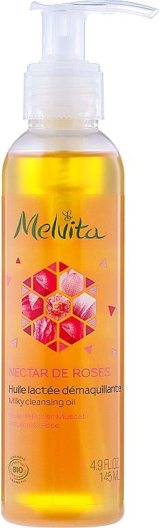 Ulei de curățare pentru față - Melvita Nectar De Rose Milky Cleansing Oil