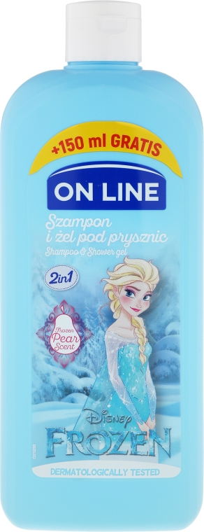 "Șampon-gel de duș ""Frozen"" - On Line Disney Frozen Shampoo & Body Wash"