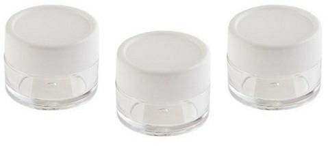 Set recipiente pentru produse cosmetice, 3 bucăți - Sefiros Cosmetic Jar — Imagine N1