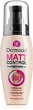 Parfumuri și produse cosmetice Fond de ten mat rezistent la apă - Dermacol Matt Control