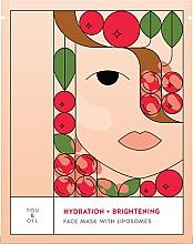 Parfumuri și produse cosmetice Mască hidratantă pentru față - You & Oil Hydration & Brightening Face Mask With Liposomes