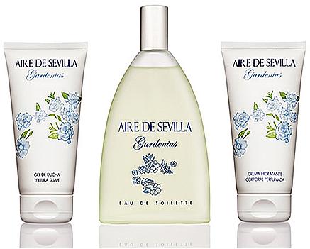 Instituto Espanol Aire De Sevilla Gardenias - Set (edt/150ml + cream/150ml + sh/gel/150ml)