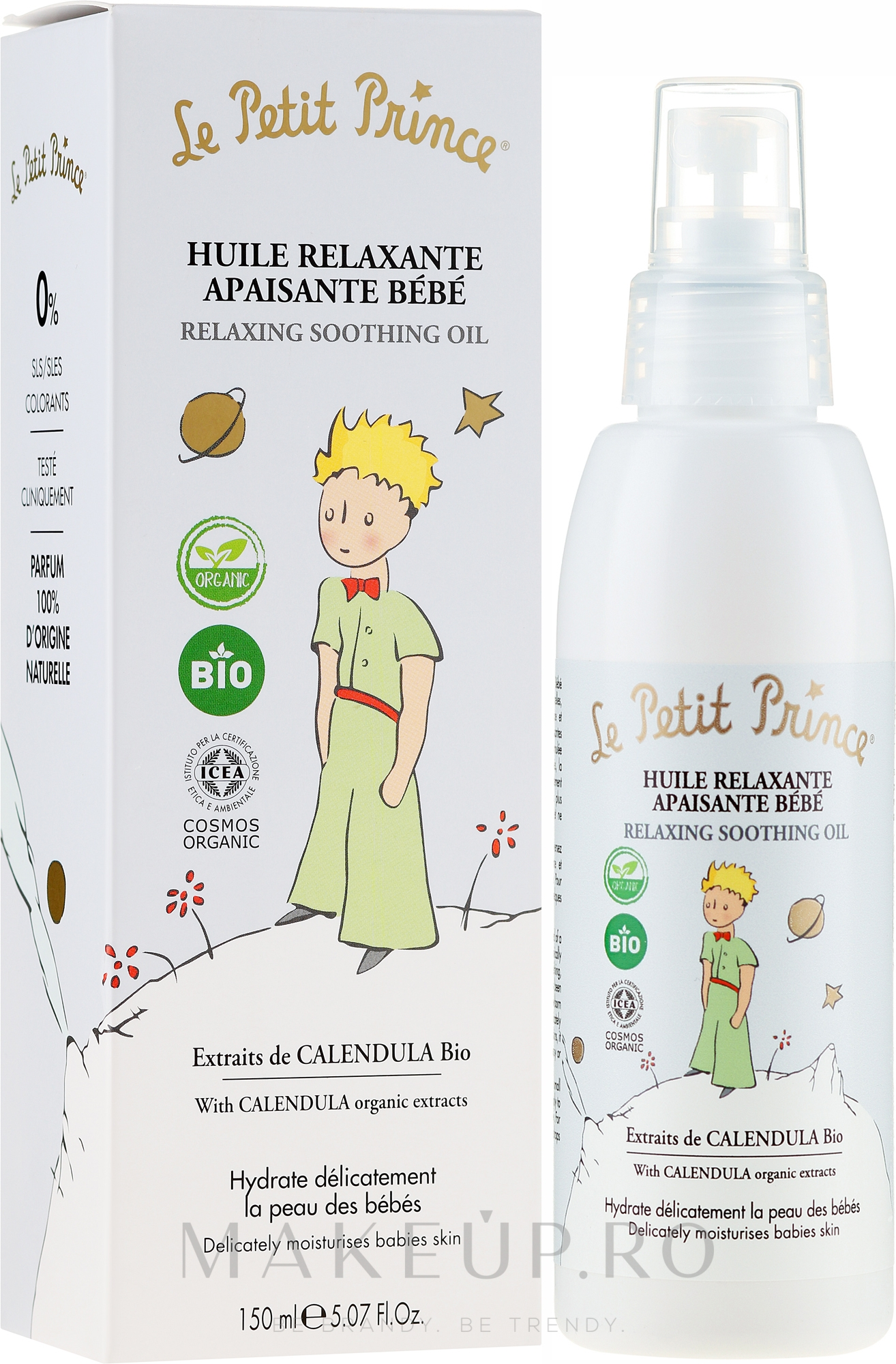 Ulei de corp, pentru copii - Le Petit Prince Relaxing Soothing Oil — Imagine 150 ml