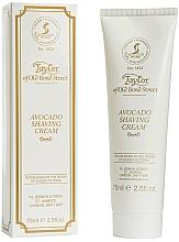 """Parfumuri și produse cosmetice Cremă de ras """"Avocado"""" - Taylor of Old Bond Street Avocado Luxury Shaving Cream (în tub)"""