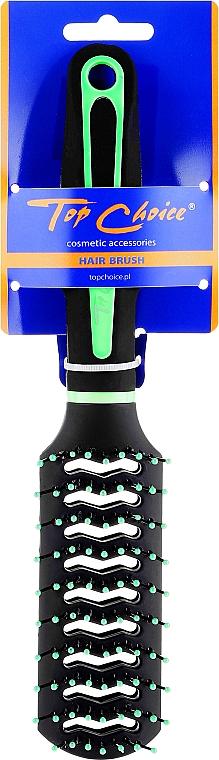 "Perie de păr ""Neon"", 63664, negru-verde - Top Choice — Imagine N1"