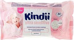 Parfumuri și produse cosmetice Șervețele umede pentru bebeluși, 60pcs - Cleanic Kindii Baby Sensitive Wipes