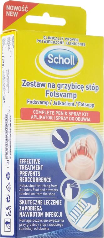 Set - Scholl Fotsvamp (f/cr/4ml + f/spray/10ml)