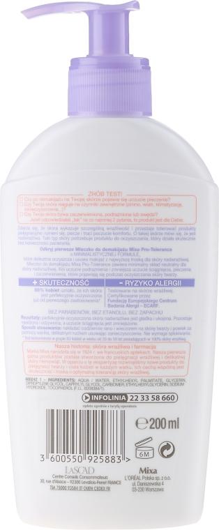 Lapte pentru față - Mixa Pro-Tolerance Cleansing Milk — Imagine N2