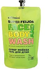 "Parfumuri și produse cosmetice Gel de duș ""Super feijoa"" - Cafe Mimi Super Feijoa Face And Body Wash (doy-pack)"