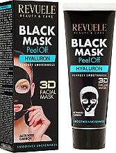 """Parfumuri și produse cosmetice Mască neagră pentru față """"Hyaluronic"""" - Revuele Black Mask Peel Off Hyaluron"""