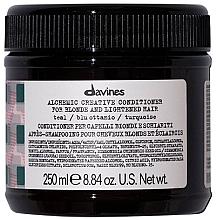 Parfumuri și produse cosmetice Balsam pentru păr natural și vopsit (turcoaz) - Davines Alchemic Conditioner Teal