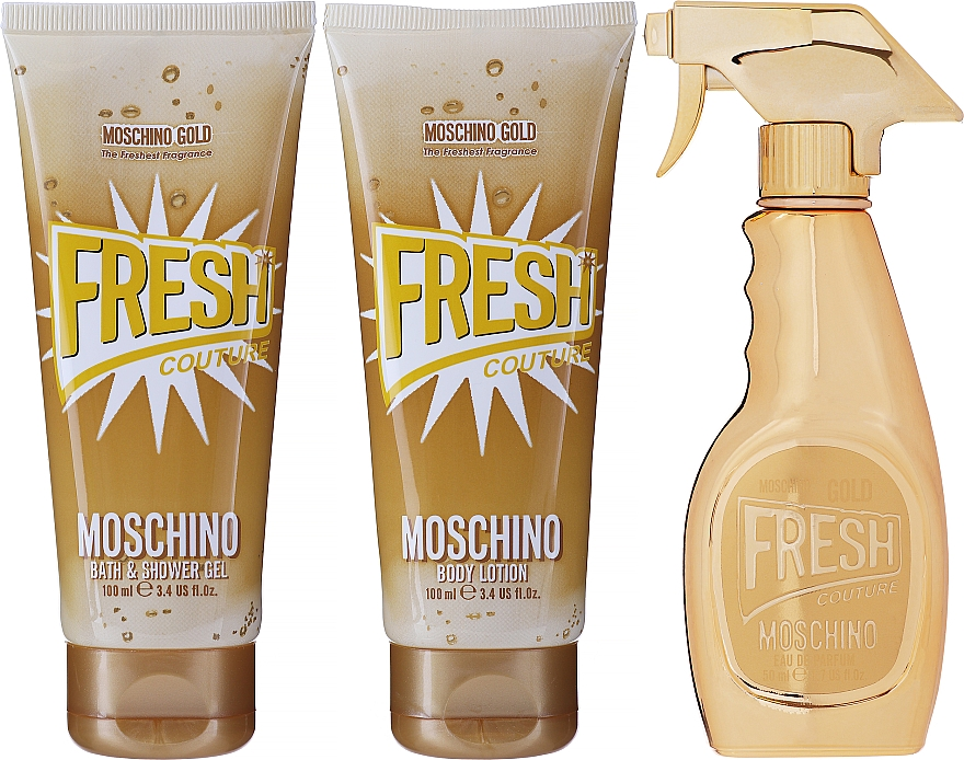 Moschino Gold Fresh Couture - Set (edp/50ml + b/lot/100ml + s/gel/100 ml)