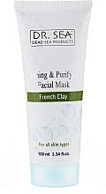 Parfumuri și produse cosmetice Mască de față cu argilă franceză - Dr. Sea Firming and Purifying Facial Mask