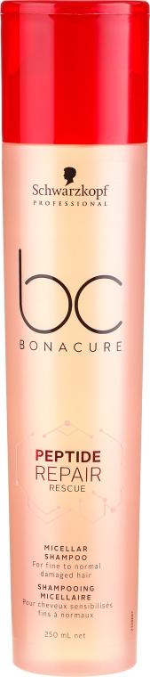 Șampon pentru păr deteriorat - Schwarzkopf Professional Bonacure Peptide Repair Micellar Shampoo