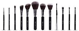 Parfumuri și produse cosmetice Set pensule pentru machiaj - Nanshy Masterful Collection Onyx Black (Brush/12buc)