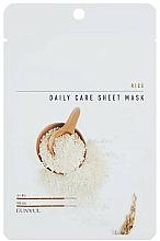 Parfumuri și produse cosmetice Mască de țesut cu extract de orez - Eunyul Daily Care Mask Sheet Rice