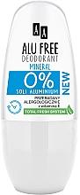 Parfumuri și produse cosmetice Deodorant - AA Roll-on Alu Free Mineral