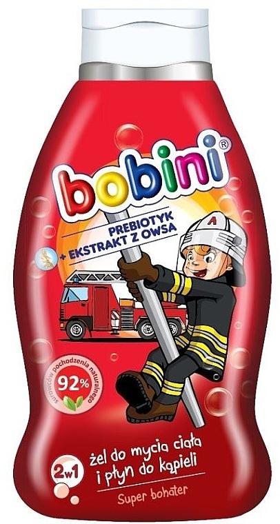 """Spumă de baie """"SuperErou"""" 2 în 1 - Bobini — Imagine N1"""