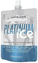 Parfumuri și produse cosmetice Cremă pentru păr - Affinage Salon Professional Platinum Ice Ammonia-Free Lightening Creme
