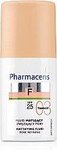 Parfumuri și produse cosmetice Fond de ten fluid cu efect matifiant - Pharmaceris F Mattifying Fluid Pore Refining SPF 25