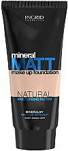 Parfumuri și produse cosmetice Fond de ten matifiant - Ingrid Cosmetics Mineral Matt Make Up Foundation