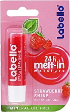 """Parfumuri și produse cosmetice Balsam de buze """"Strawberry"""" - Labello Lip Care Strawberry Shine Lip Balm"""