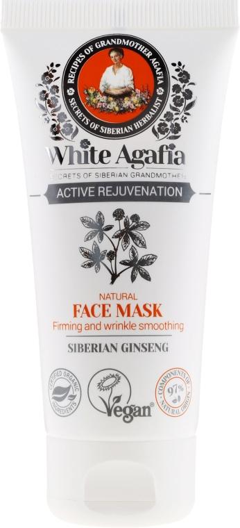 """Mască de față """"Întinerire activă"""" 50+ - Reţete bunicii Agafia White Agafia — Imagine N2"""