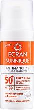 Parfumuri și produse cosmetice Fluid cu protecție solară pentru față - Ecran Sunnique Antimanchas Facial Spf50+