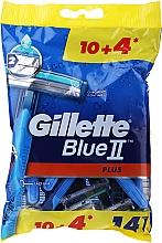Parfumuri și produse cosmetice Set Aparat de ras de unică folosință, 10+4 buc - Gillette Blue II Plus