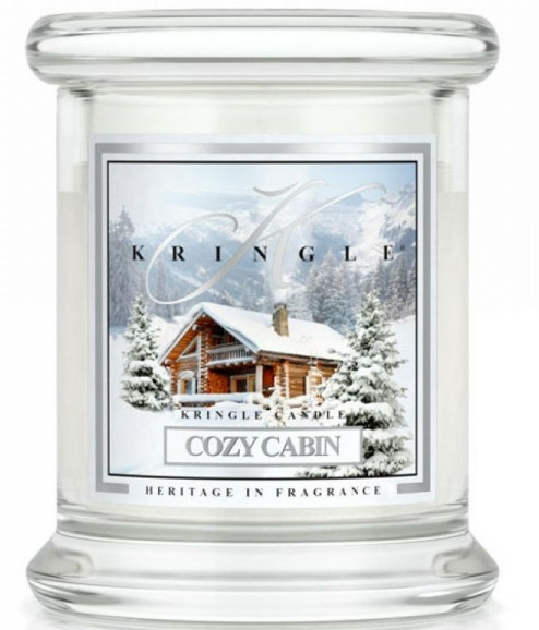 Lumânare aromată (pahar) - Kringle Candle Cozy Cabin — Imagine N1