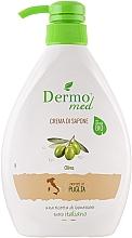 """Parfumuri și produse cosmetice Săpun cremos """"Măsline"""" - Dermomed Oliva Cream Soap"""