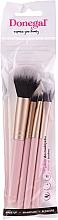 Parfumuri și produse cosmetice Set pensule pentru machiaj, 4 bucăți, roz - Donegal