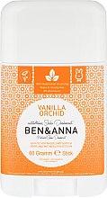 "Parfumuri și produse cosmetice Deodorant stick ""Vanilie și orhidee"" - Ben & Anna Natural Soda Deodorant Vanilla Orchid"