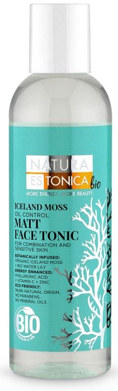 Tonic pentru față, cu efect matifiant - Natura Estonica Iceland Moss Face Tonic