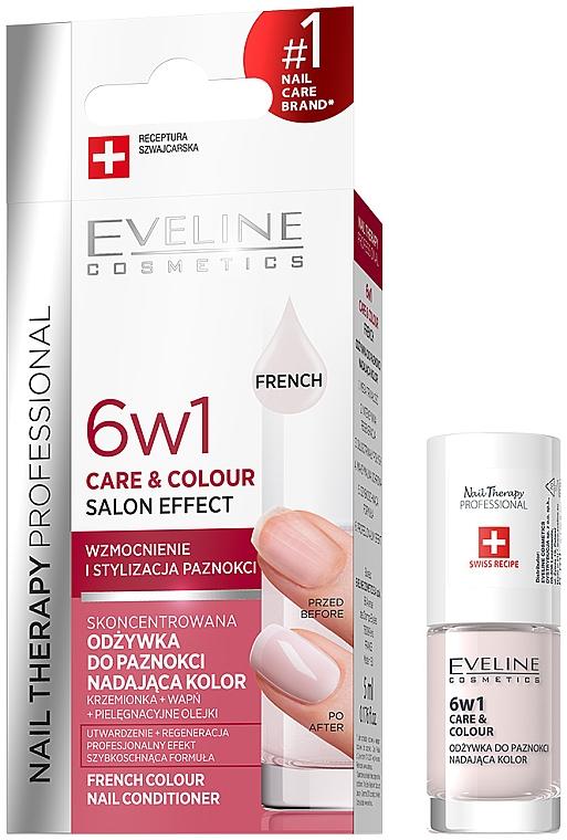 Ojă cu efect de întărire 6 în 1 - Eveline Cosmetics Nail Therapy Professional