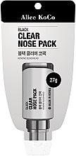 Parfumuri și produse cosmetice Mască de față - Alice Koco Black Clear Nose Pack