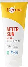 Parfumuri și produse cosmetice Loțiune după plajă cu extract de aloe vera - Derma After Sun Lotion Med Aloe Vera