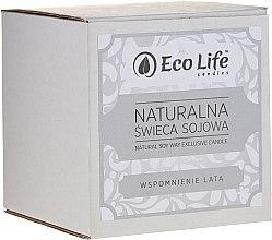 """Parfumuri și produse cosmetice Lumânare parfumată """"Amintiri de vară"""" - Eco Life Candles"""