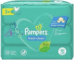 """Parfumuri și produse cosmetice Șervețele umede pentru copii """"Baby Fresh Clean"""", 3x52 buc - Pampers"""