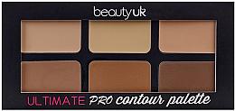 Parfumuri și produse cosmetice Paletă contouring pentru față - Beauty UK Ultimate PRO Contour Palette