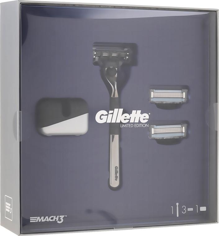 Set - Gillette Mach3 (razor/1psd + rem/cass/2psd + stand) — Imagine N1