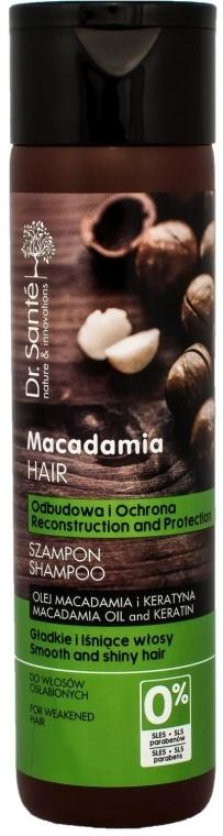 """Șampon pentru păr, cu ulei de macadamie și keratină """"Restaurare și protecție"""" - Dr. Sante Macadamia Hair"""