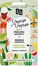 """Parfumuri și produse cosmetice Crema peeling + Cremă-mască """"Migdale și Pomelo"""" - AA Voyage Voyage 2 In 1"""