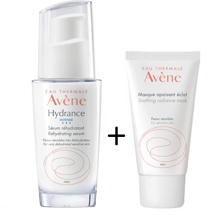 Set pentru îngrijirea feței - Avene Hydrance Intense Set (serum/30ml+mask/50ml) — Imagine N2