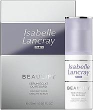Parfumuri și produse cosmetice Ser regenerant pentru pielea din jurul ochilor - Isabelle Lancray Beaulift Radiant Eye Creamy Serum
