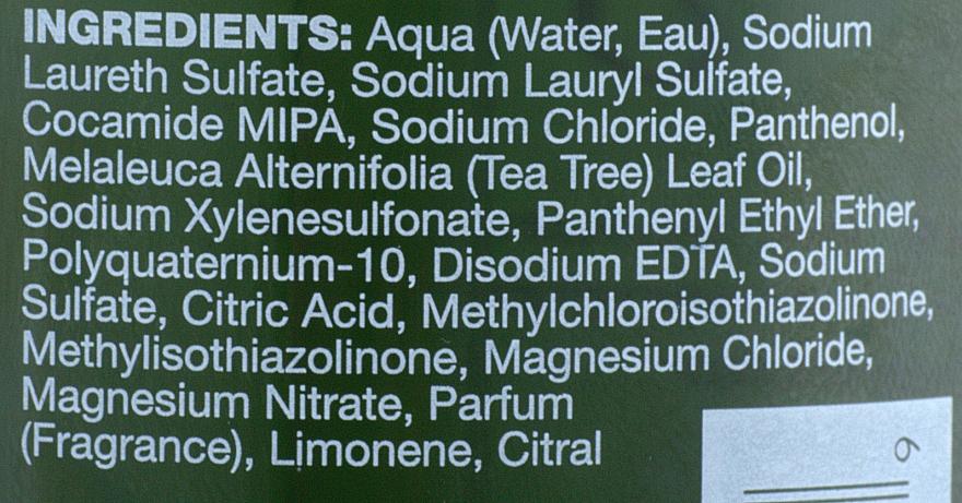 Șampon pe bază de extract de arbore de ceai, lămâie și salvie - Paul Mitchell Tea Tree Lemon Sage Thickening Shampoo — Imagine N3