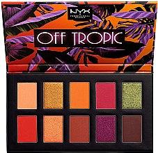Parfumuri și produse cosmetice Paletă de farduri pentru pleoape - NYX Professional Off Tropic Shadow Palette
