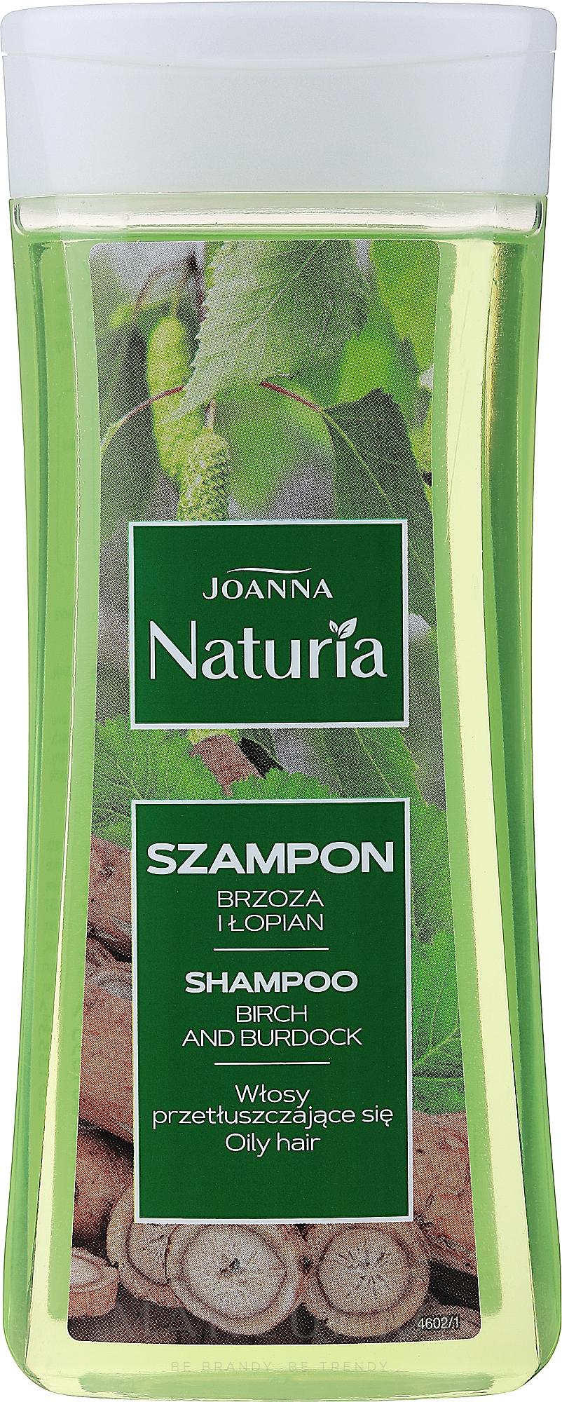 Șampon cu extract de mesteacăn și brusture - Joanna Naturia Hair Shampoo — Imagine 200 ml